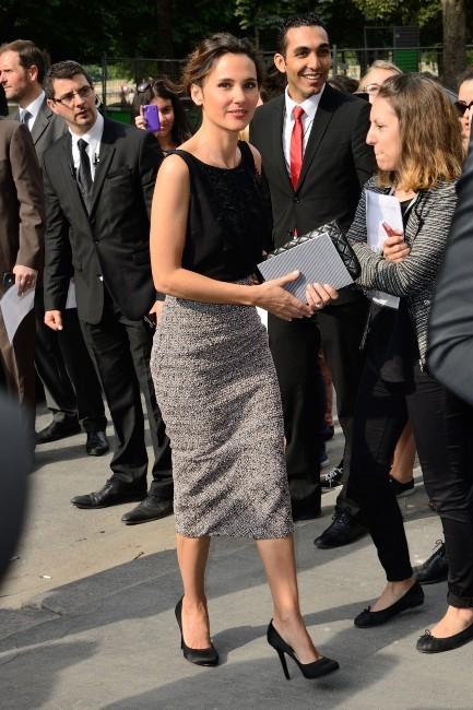 Virginie Ledoyen lors du défilé Chanel à Paris, le 2 juillet 2013.