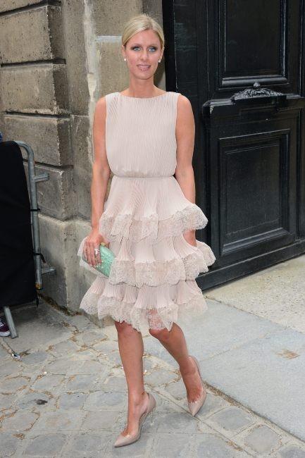 Nicky Hilton se rendant au défilé Valentino à Paris, le 3 juillet 2013.