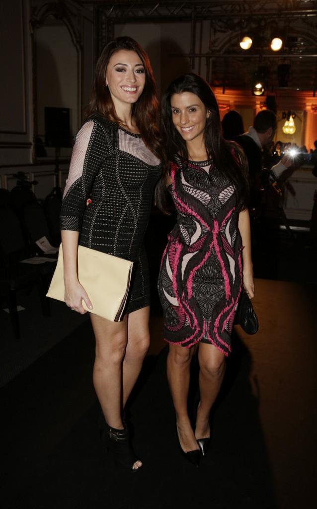 Photos : Fashion Week Haute Couture : Rachel Legrain-Trapani et Ludivine Sagna : wags sublimes et complices chez Dany Atrache !