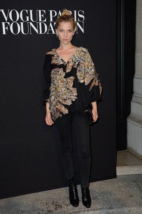 Clémence Poesy au gala Vogue Foundation le 9 juillet 2014