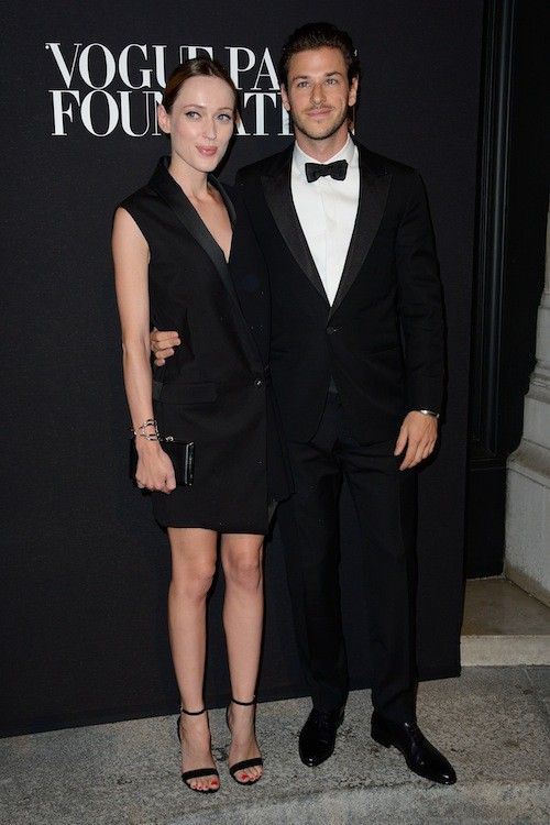 Gaspard Ulliel au gala Vogue Foundation le 9 juillet 2014