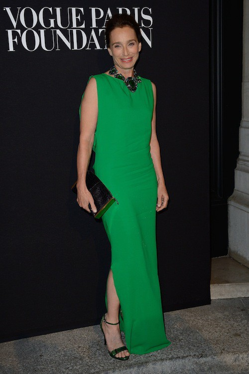 Kristin Scott Thomas au gala Vogue Foundation le 9 juillet 2014