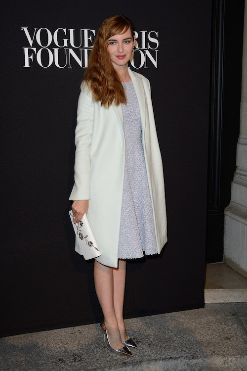 Louise Bourgoin au gala Vogue Foundation le 9 juillet 2014