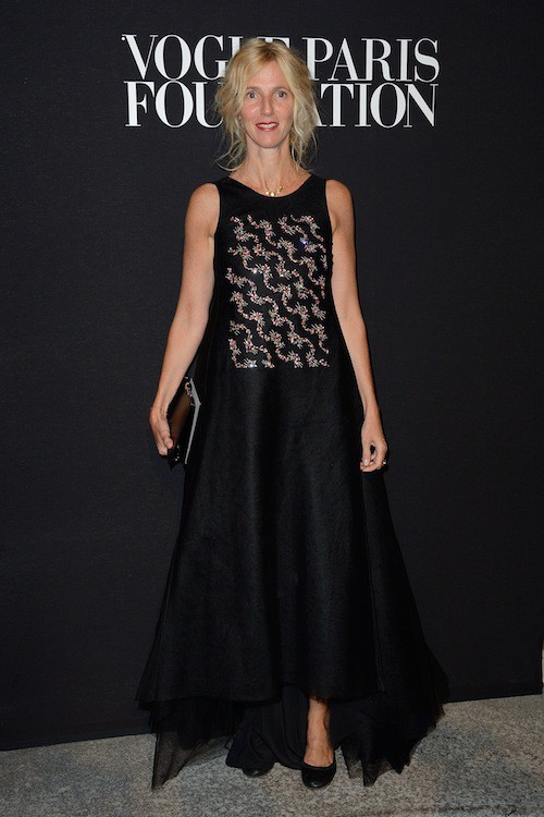 Sandrine Kiberlain au gala Vogue Foundation le 9 juillet 2014