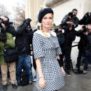 Diane Kruger se rendant au défilé Chanel, le 22 janvier 2013.