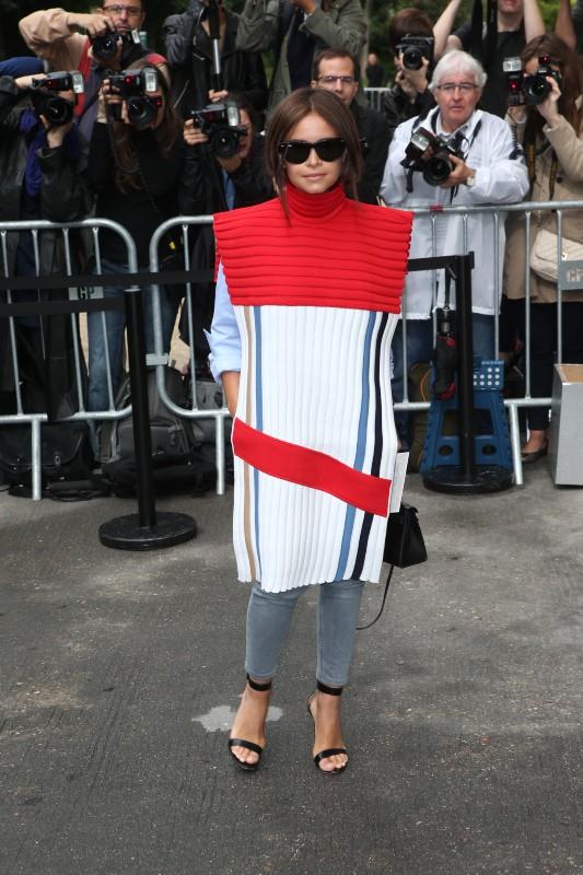 Miroslava Duma au défilé Chanel, le mardi 8 juillet 2014.