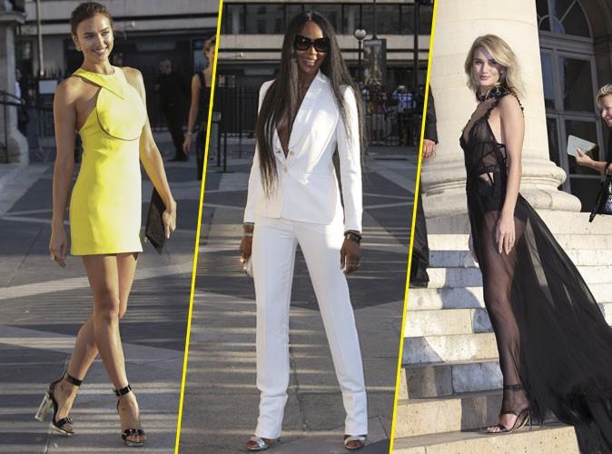 Photos : Fashion Week : Irina Shayk, Naomi Campbell, Rosie Huntington-Whiteley… Toutes des bombes chez Versace !