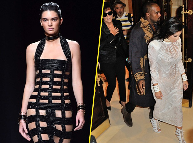 Kendall Jenner pour Balmain le 25 septembre 2014