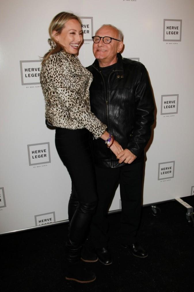 Max Azria et sa femme Lubov Azria au défilé Hervé Léger by Max Azria à New York, le 15 février 2011