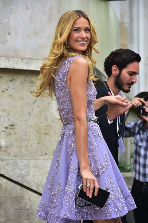 Petra Nemcova au défilé Haute Couture automne-hiver 2015-2016 Zuhair Murad, à Paris le 9 juillet 2015 !