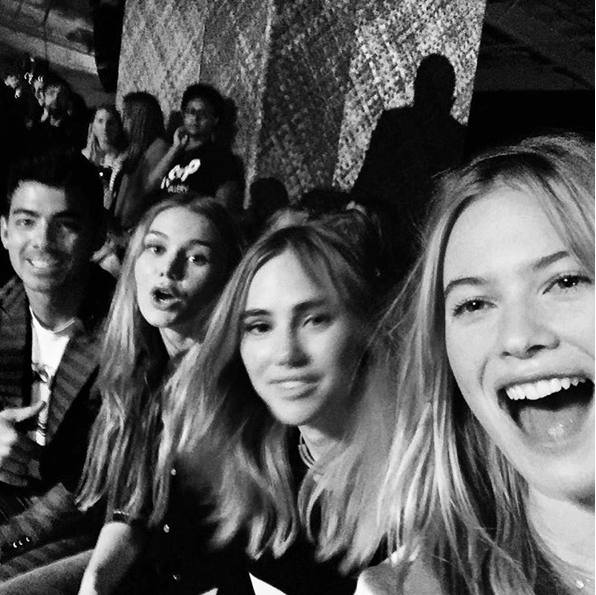 Joe Jonas, Suki Waterhouse et Behati Prinsloo le 14 septembre 2015