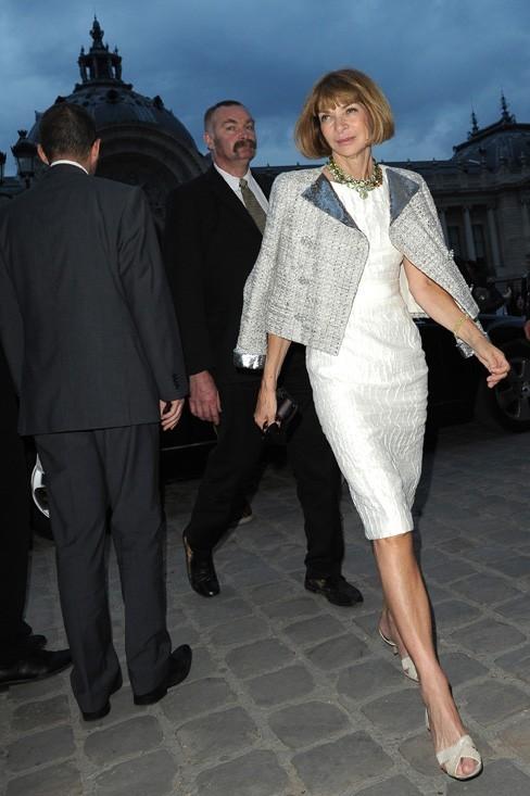 Anna Wintour lors du défilé Chanel à Paris, le 5 juillet 2011.
