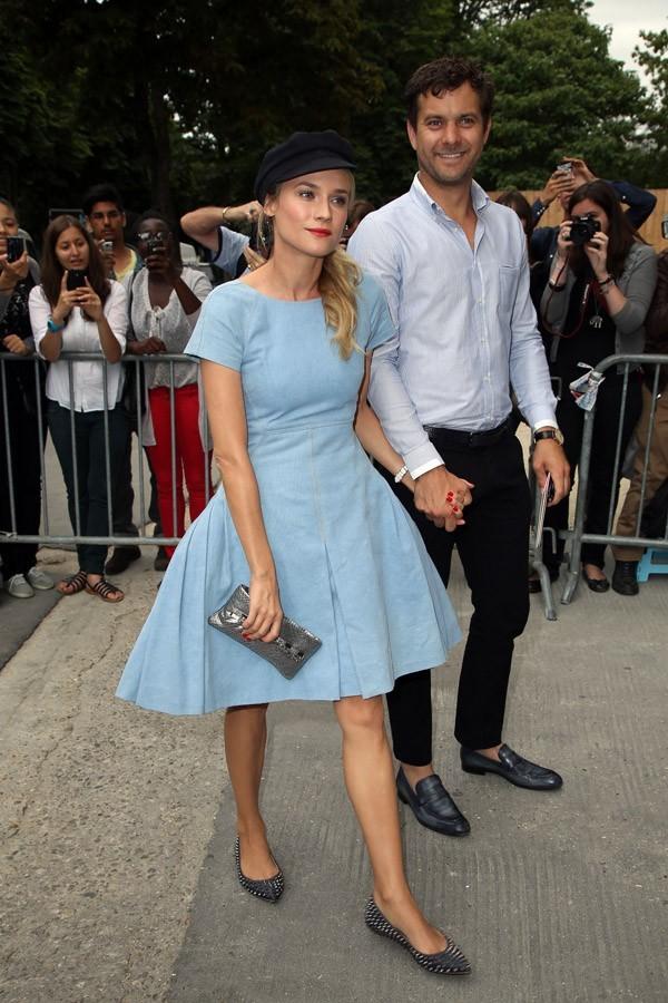 Diane Kruger et Joshua Jackson au défilé haute couture Chanel à Paris le 3 juillet 2012