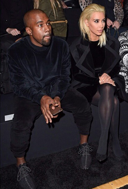 Photos : Fashion Week Paris : Kanye West : totalement sous le charme de sa blonde Kim !