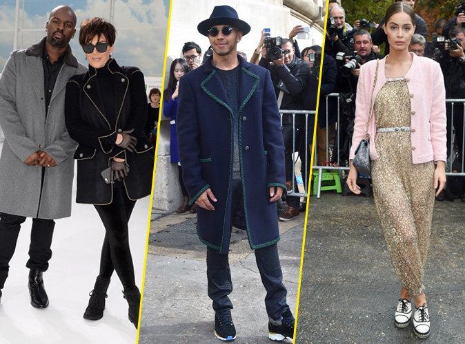 Kris Jenner, Lewis Hamilton et Marie-Ange Casta le 6 octobre 2015