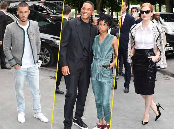 Photos : Fashion Week parisienne : Will Smith, Willow Smith, Jessica Chastain, Baptiste Giabiconi : parterre de stars au défilé haute couture Chanel