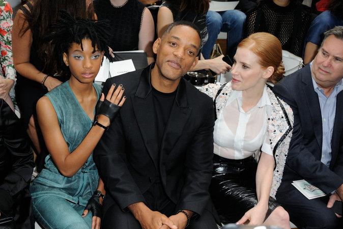 Will Smith et sa fille Willow Smith au défilé haute couture Chanel