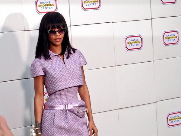 Rihanna lors du défilé Chanel à Paris, le 4 mars 2014.