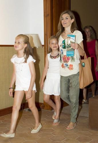 Vacances royales pour Felipe et Letizia d'Espagne, le 11 aout 2014