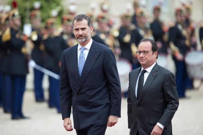 Felipe d'Espagne et François Hollande à l'Elysée le 2 juin 2015