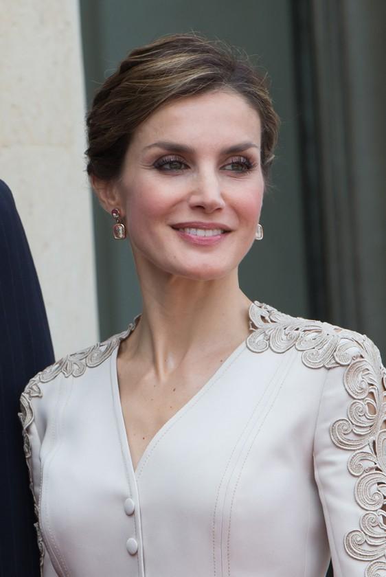 Letizia d'Espagne à l'Elysée le 2 juin 2015
