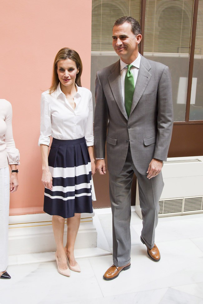 Le Prince Felipe de Bourbon et la Princesse Letizia à Madrid le 5 juin 2014