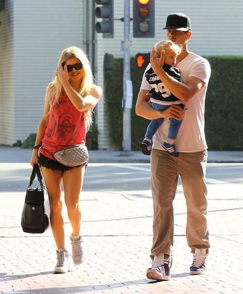 Photos : Fergie : elle retrouve enfin ses boys pour un moment détente !