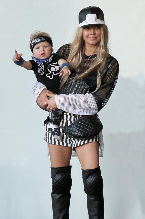 Fergie et Josh Duhamel fêtent le premier anniversaire d'Axl à Hollywood le 30 août 204