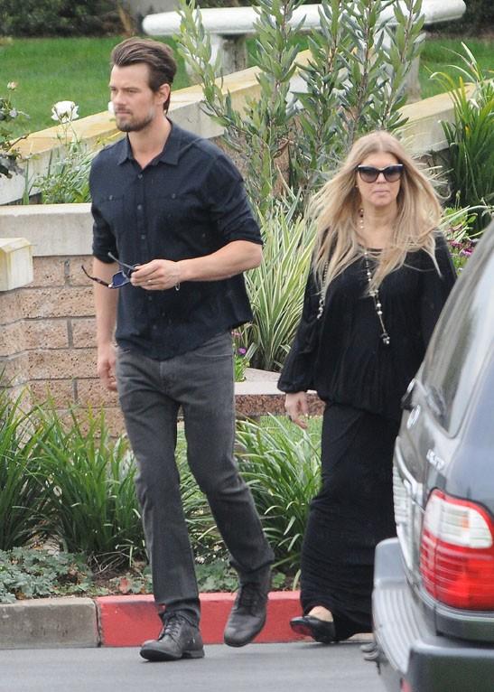 Fergie et Josh Duhamel à Los Angeles le 26 janvier 2014