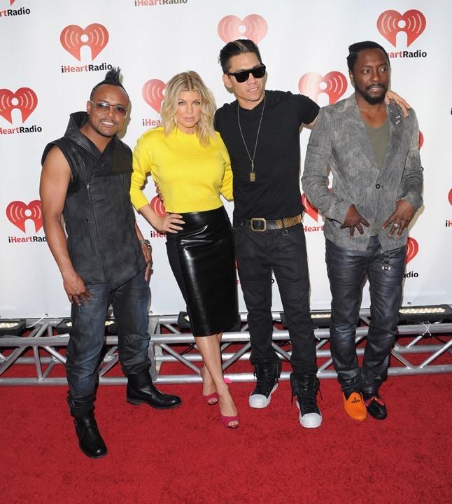 Fergie avec les Black Eyed Peas hier à Las Vegas !