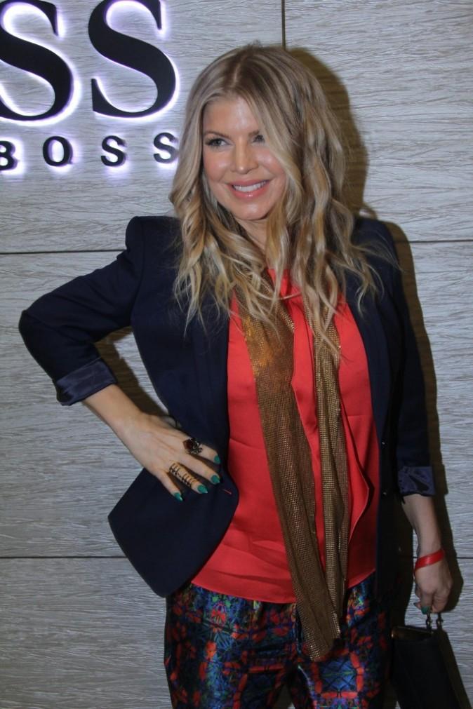 Fergie lors de l'inauguration d'une boutique Hugo Boss à Rio de Janeiro, le 3 avril 2013.