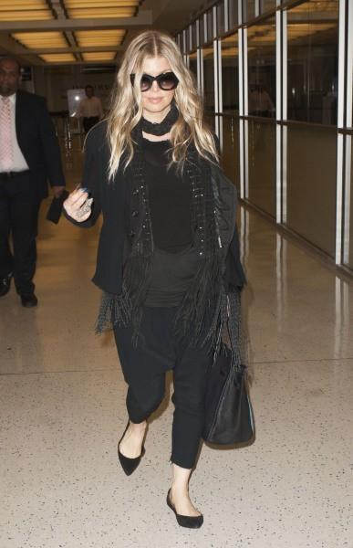 Fergie à l'aéroport de New York