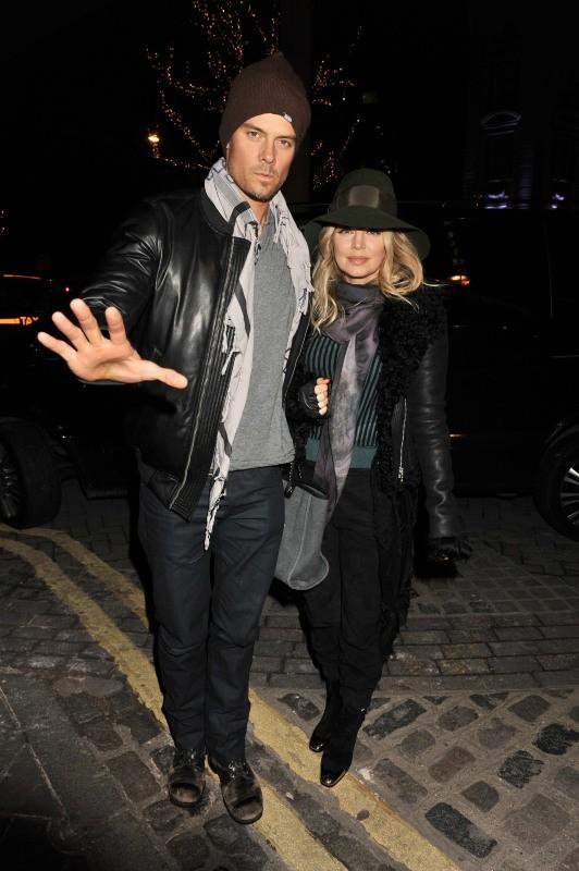 Fergie et Josh Duhamel à Londres, le 20 février 2013.