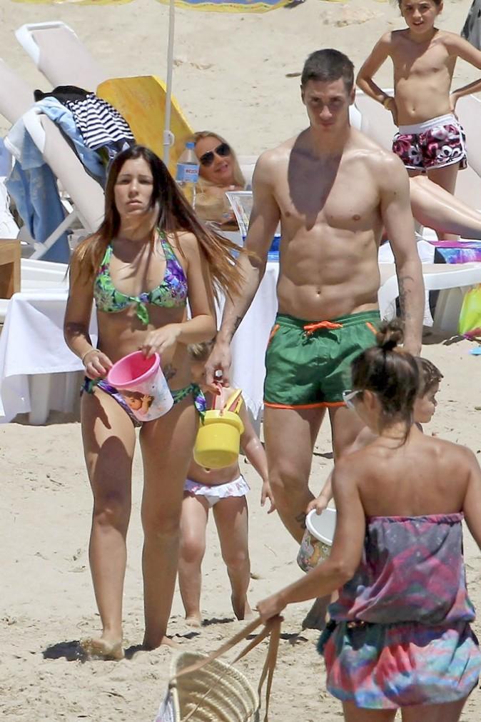Fernando Torres en vacances avec sa famille à Ibiza le 30 mai 2013
