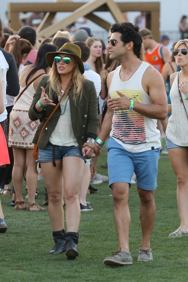 Hilary Duff au Festival de Coachella le 12 avril 2013