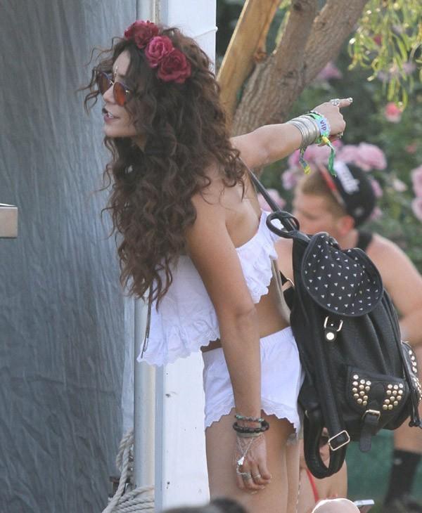 Vanessa Hudgens au Festival de Coachella le 13 avril 2013