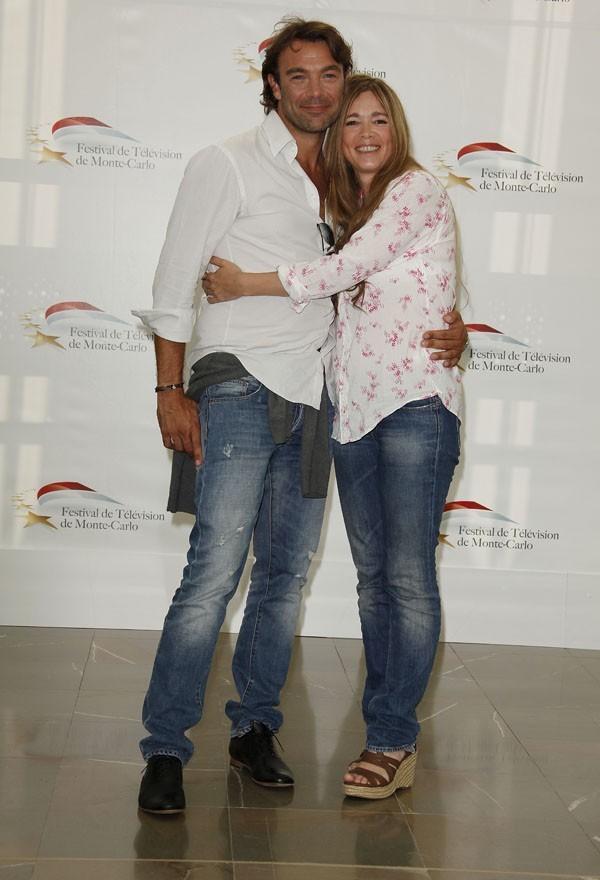 Hélène Rolles et Patrick Puydebat au 51 ème Festival de la télévision de Monte-Carlo