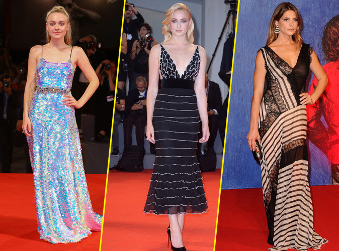 Festival de Venise : Dakota Fanning, Ashley Greene et Sophie Turner : somptueuses sur le red carpet !