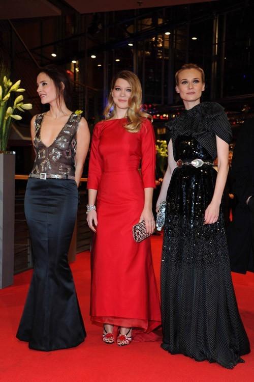 Le même trio version tapis rouge !
