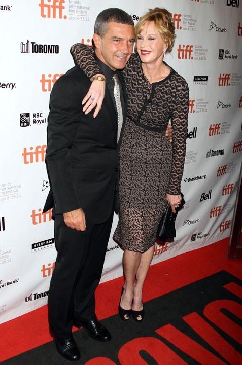 Antonio Banderas et Melanie Griffith lors du Festival du Film de Toronto, le 11 septembre 2011.