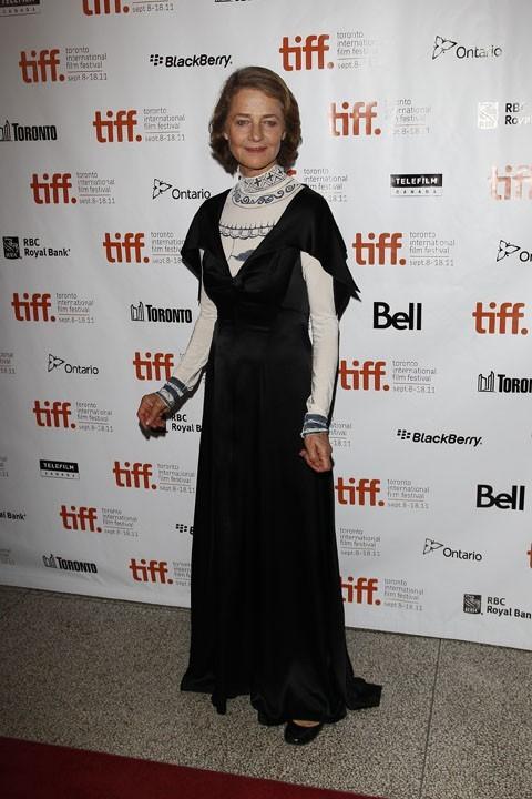 Charlotte Rampling lors du Festival du Film de Toronto, le 11 septembre 2011.