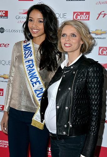 Flora Coquerel et Sylvie Tellier à Vincennes le 26 janvier 2014