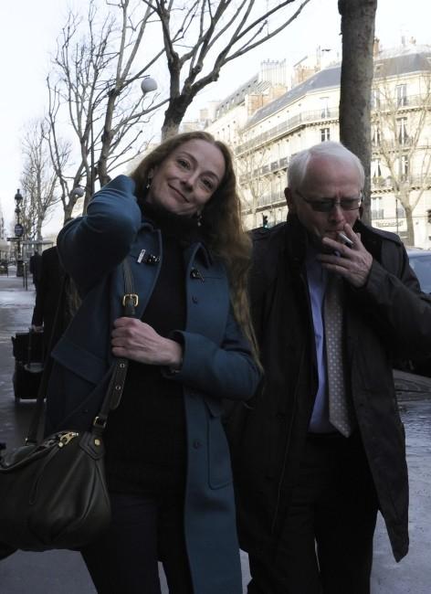 Florence Cassez et son père le 28 janvier 2013 à Paris