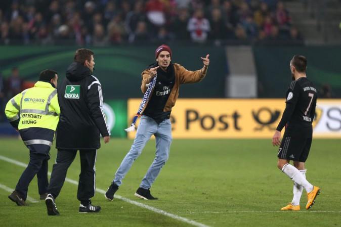 Franck Ribéry sur la pelouse d'Hambourg le 29 octobre 2014