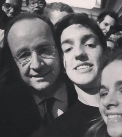 Photos : François Hollande : aux États-Unis, le roi du selfie, c'est lui !