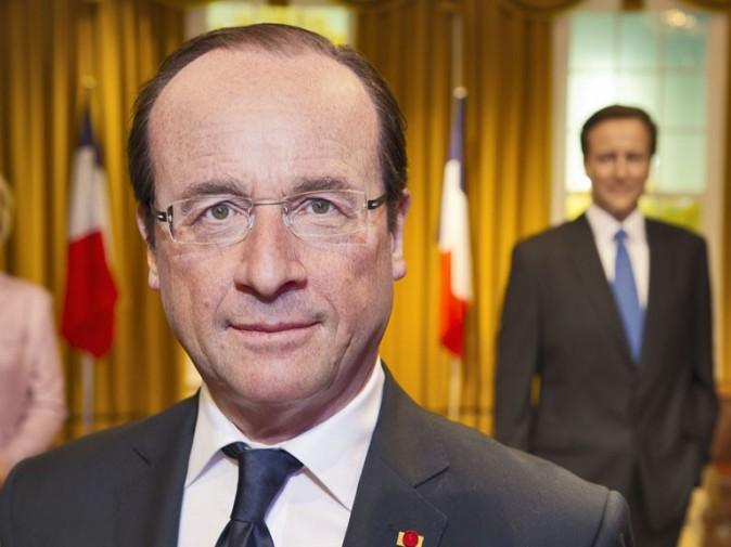 La statue de cire de François Hollande inaugurée à Londres le 23 août 2012