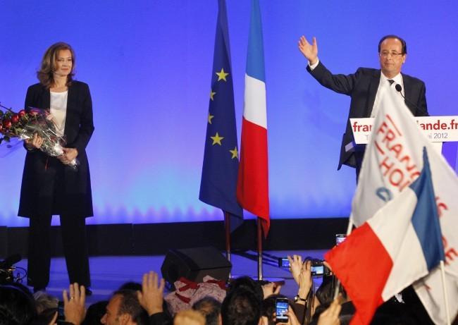 François Hollande et Valérie Trierweiler à Tulle, le 6 mai 2012.