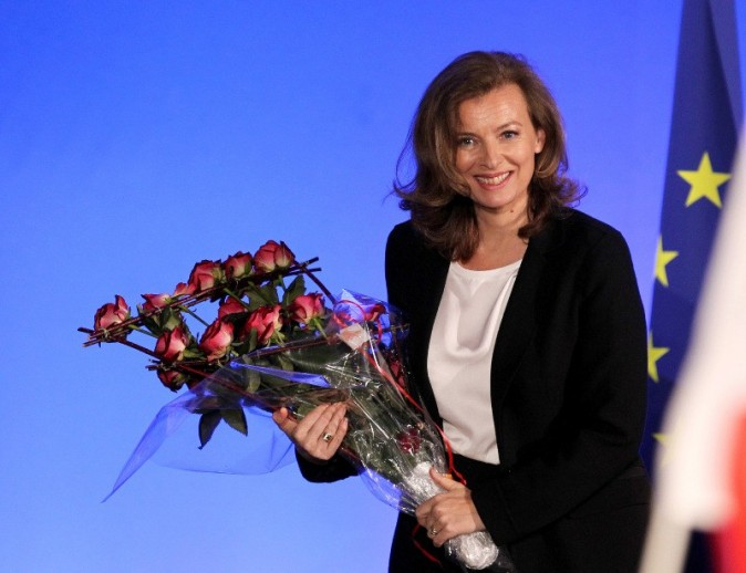 Valérie Trierweiler à Tulle, le 6 mai 2012.