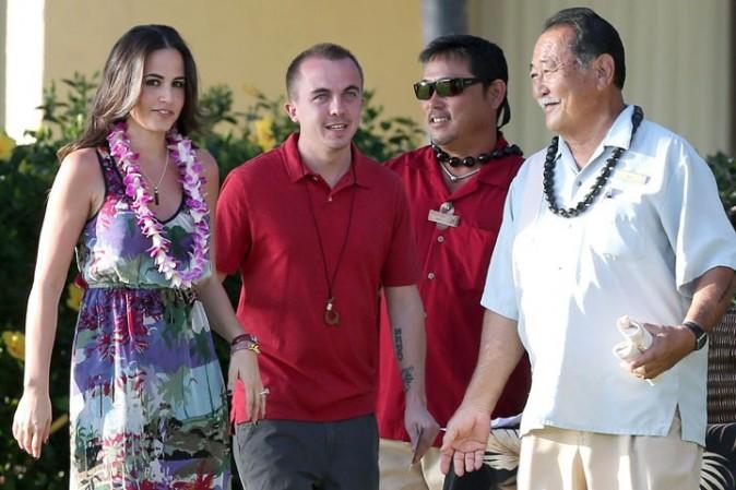 Frankie Muniz et sa fiancée à Hawaï le 24 janvier 2013