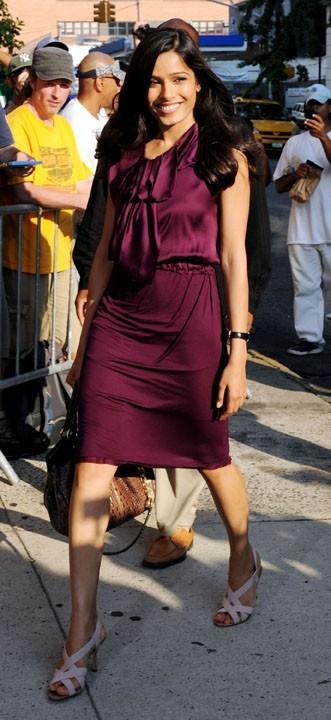 Freida Pinto en promo à New York, le 1er août 2011.